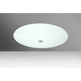 Reviews Howell 2-Light Outdoor Flush Mount By Orren Ellis