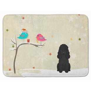 Christmas Presents Friends Poodle Memory Foam Bath Rug
