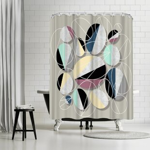 East Urban Home Susana Paz Stones And Outlines Shower Curtain