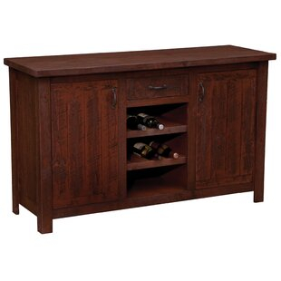 Frontier Sideboard with Wine Rack Shelves Fireside Lodge