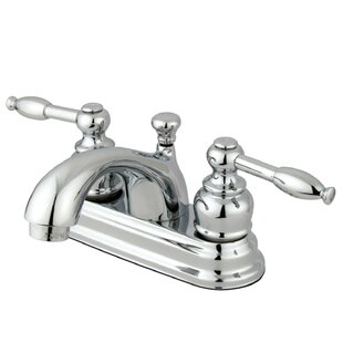 Kingston Brass Knight Centerset Bathroom Faucet with Drain Assembly
