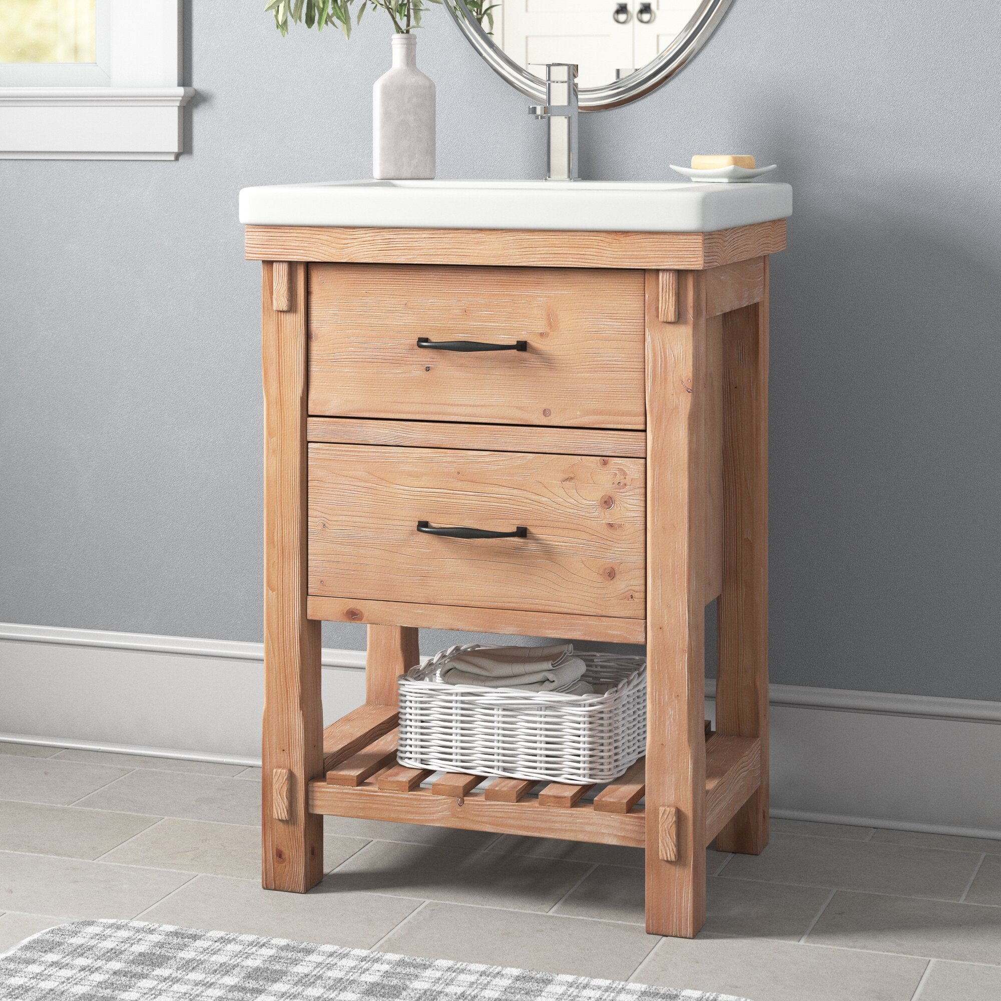 Three Posts Kordell 24 Single Bathroom Vanity Set Reviews Wayfair