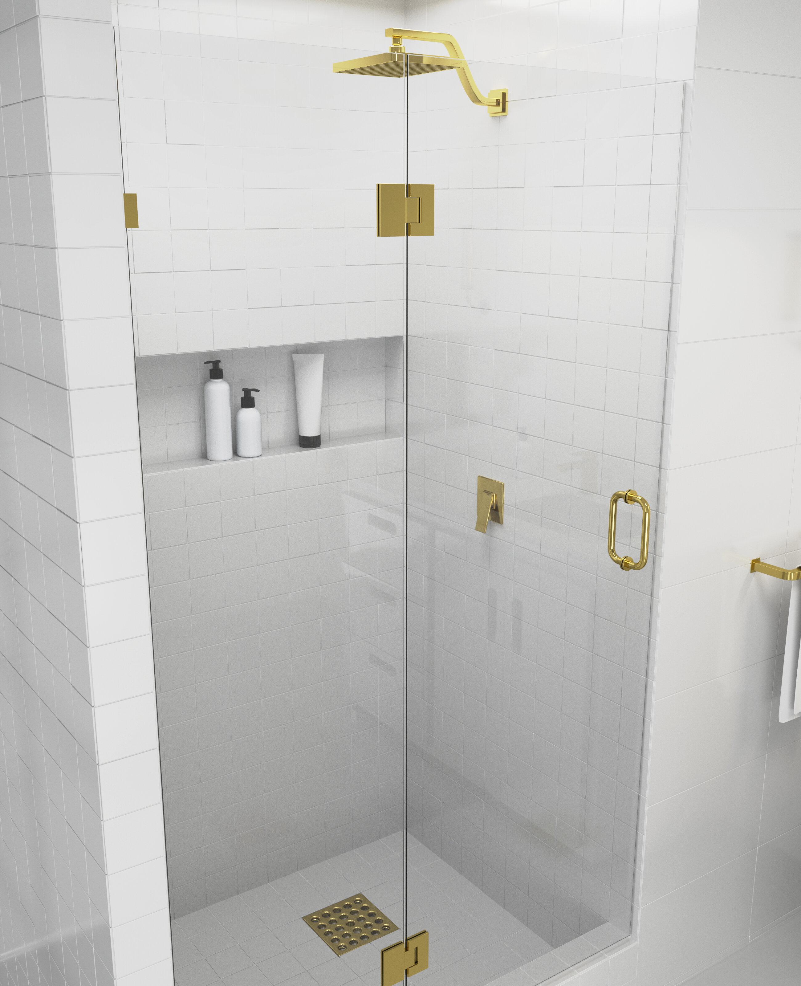 39 25 X 78 Hinged Frameless Shower Door