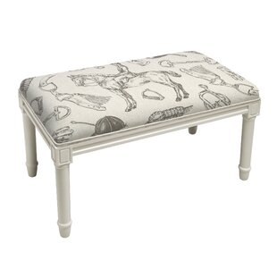 Quintanar Equestrian Wood Bench by Charlton Home