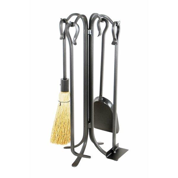 5-piece Tool Set Minuteman International Brushed Stainless Steel Neoclassic Fireplace Set