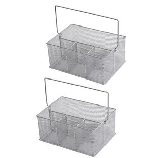 Wafford Mesh Condiment Caddy (Set of 2)  sc 1 st  Wayfair & Wooden Condiment Caddy | Wayfair