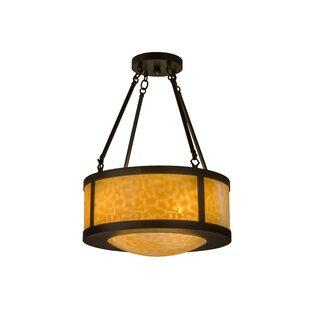 Meyda Tiffany Greenbriar 4-Light Semi Flush Mount