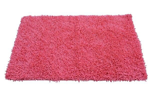 100 Cotton Salmon C Pink Area Rug