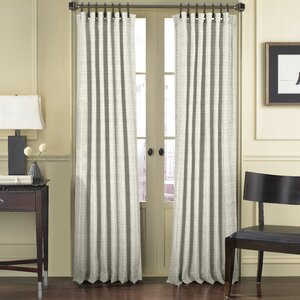 Abhi Solid Room Darkening Tab Top Single Curtain Panel
