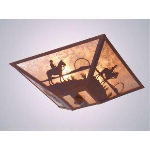 Steel Partners Cowboy Sunset 2-Light Flush Mount