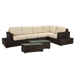 Ronning 7 Piece Sectional Seating Group With Cushions by Brayden Studio Comparison