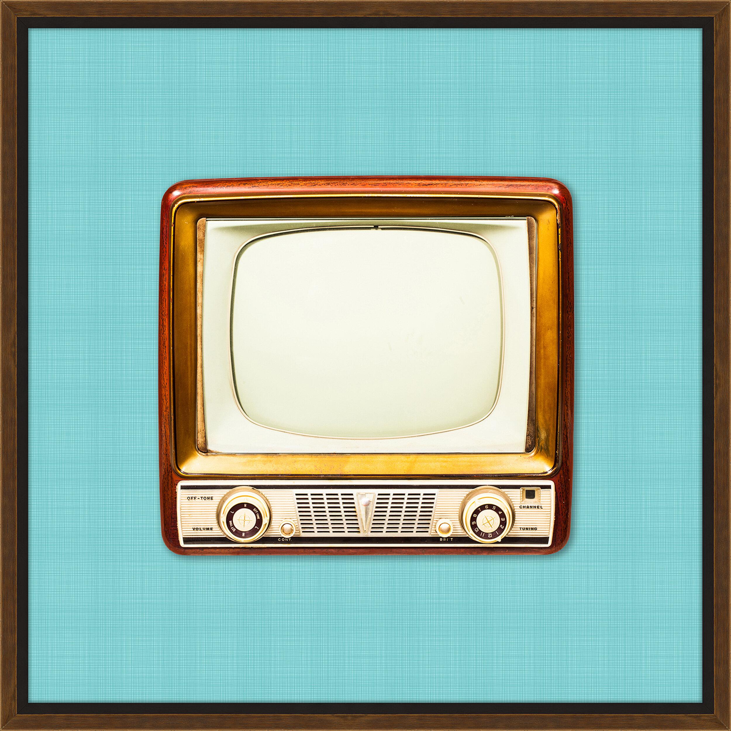 Melissa Van Hise Vintage Tv Framed Graphic Art Print Wayfair