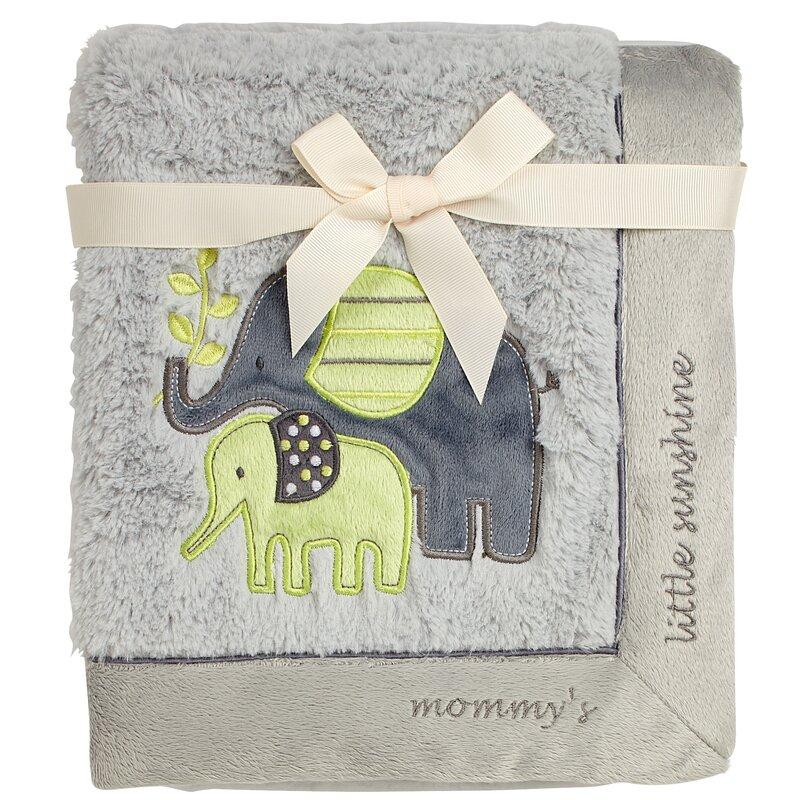 e01f25d41 Koala Baby Elephant Mommy's Little Sunshine Baby Blanket & Reviews | Wayfair