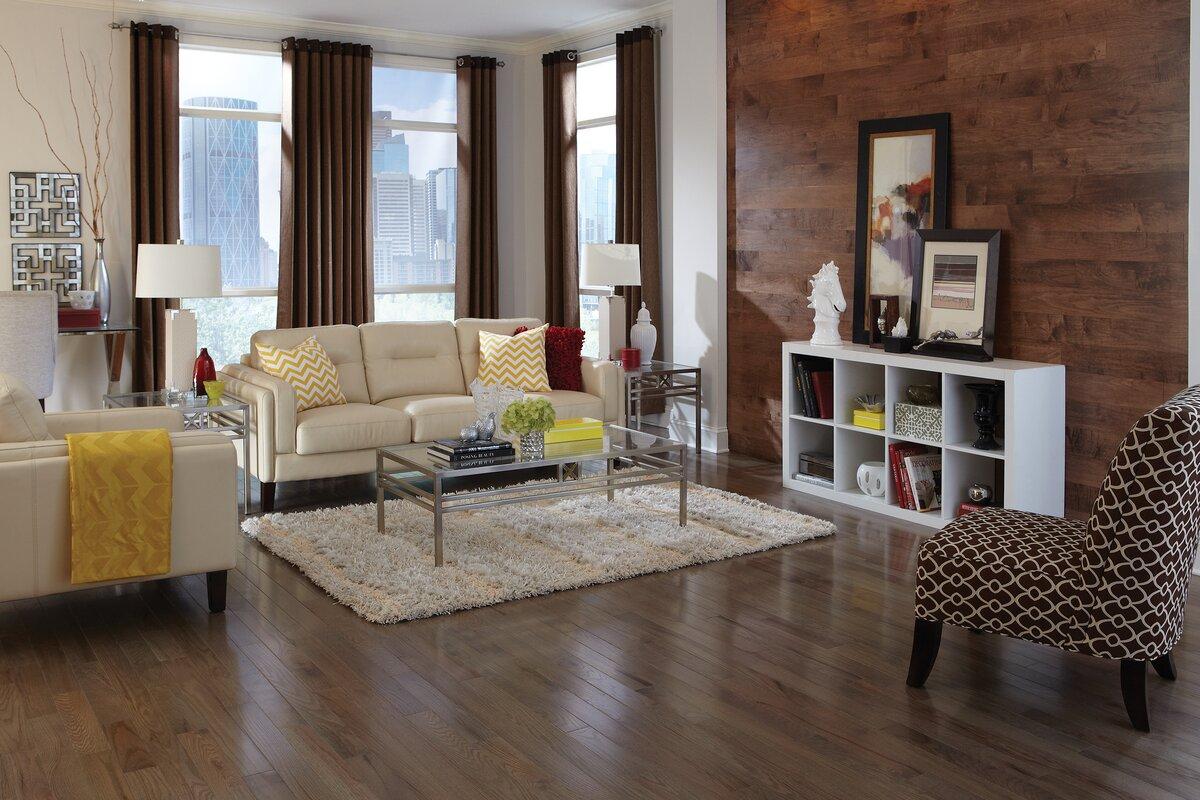 Color Strip 2 1 4 Solid White Oak Hardwood Flooring In Smoke