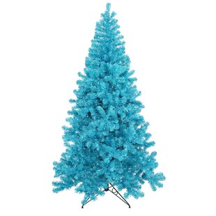5 sky blue pine artificial christmas tree with 200 teal lights with metal stand