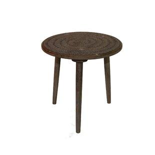 Best Paulis Antique End Table by Bungalow Rose