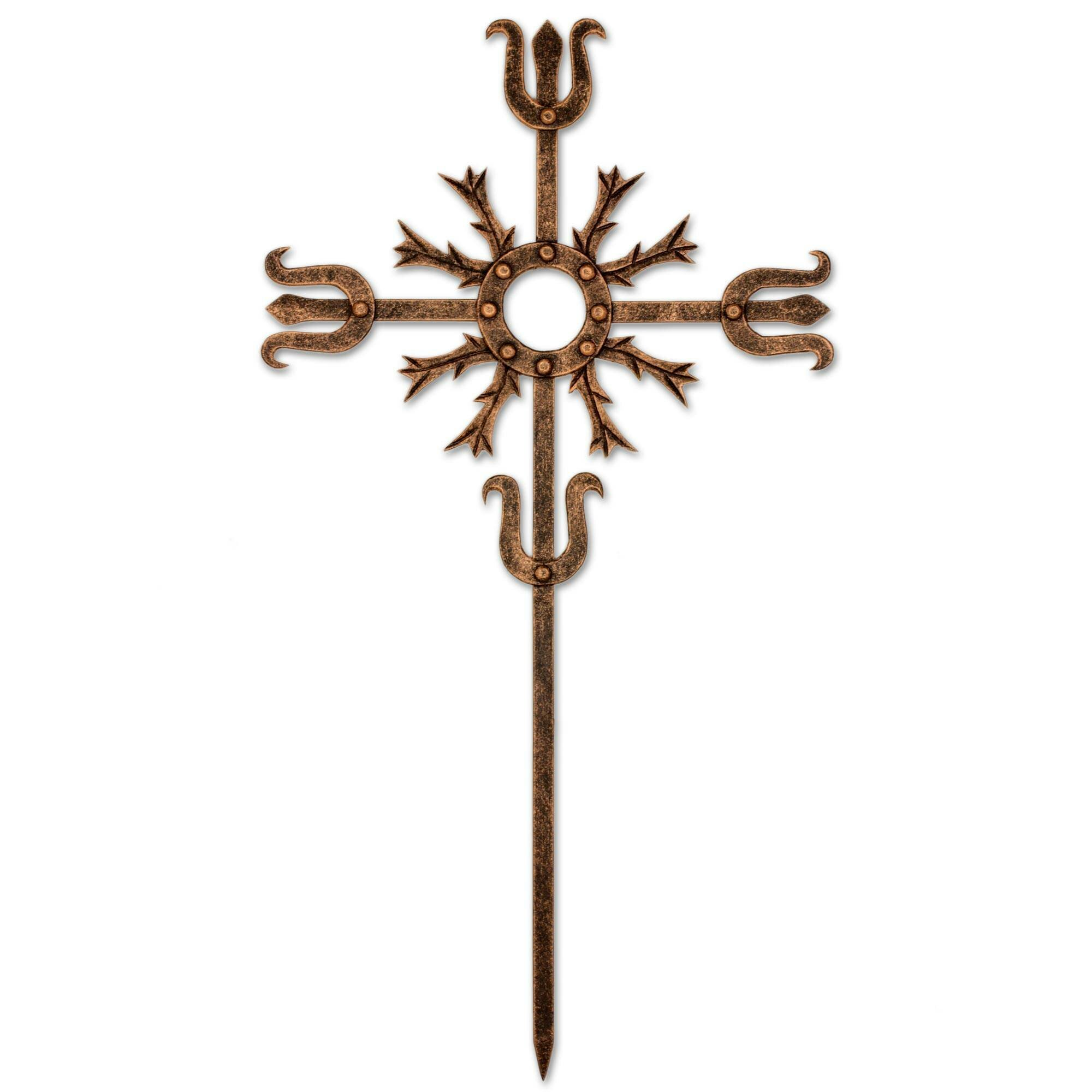 Bloomsbury Market Love Energy Wrought Iron Wall Cross Wall Decor