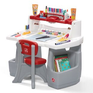 Deluxe Art Master Kids 2 Piece Art and Crafts Table and Chair Set by Step2