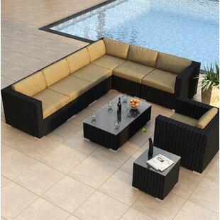 Harmonia Living Urbana 9 Piece Sectional Set with Cushions