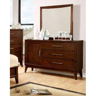 George Oliver Marlborough 3 Drawer Dresser with Mirror