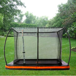 Jump Power In-Ground 10' Rectangular Trampoline with Safety Enclosure