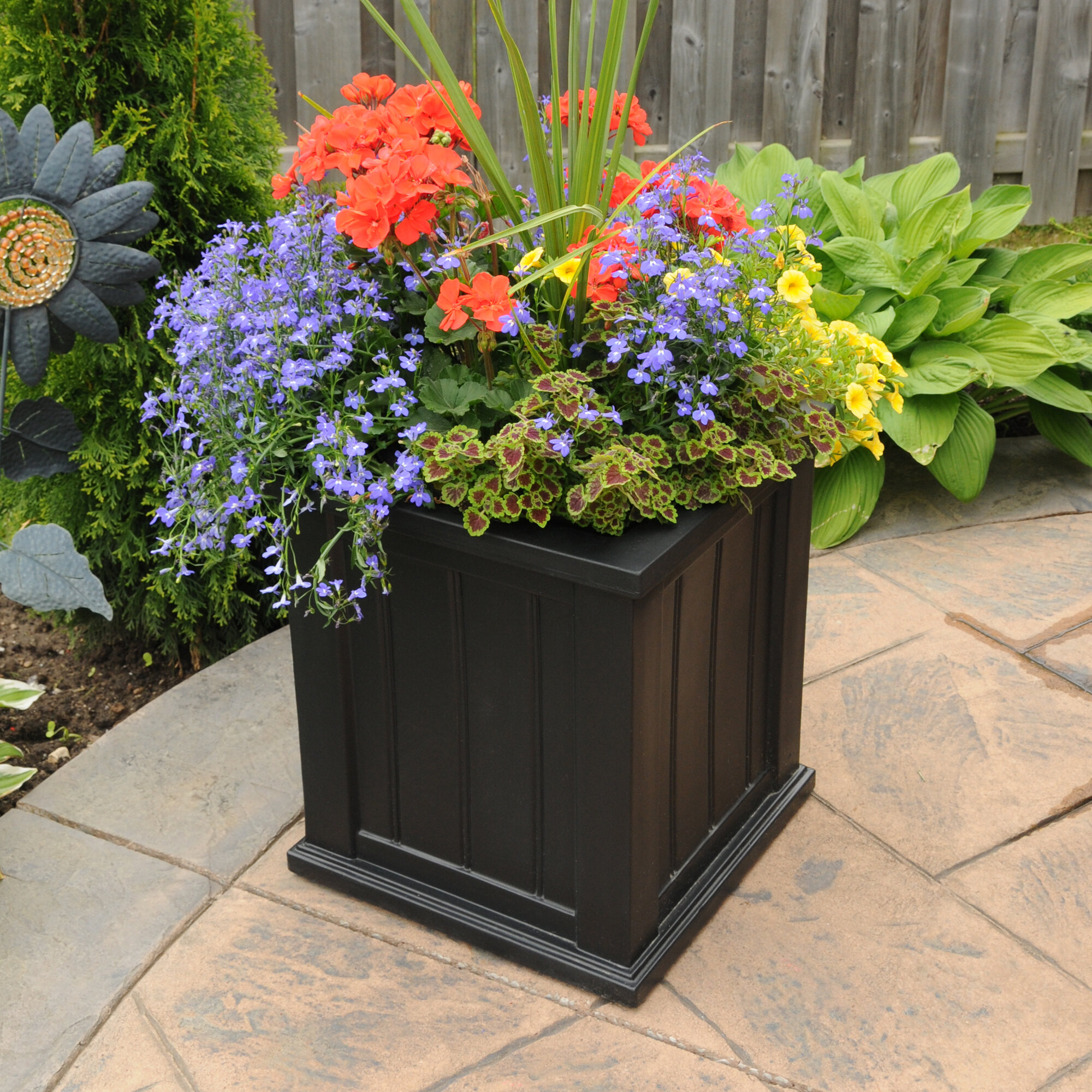Outdoor planters youll love cape cod self watering plastic planter box workwithnaturefo