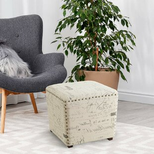 Nick Script Square Pouf Ottoman by Ophelia & Co.