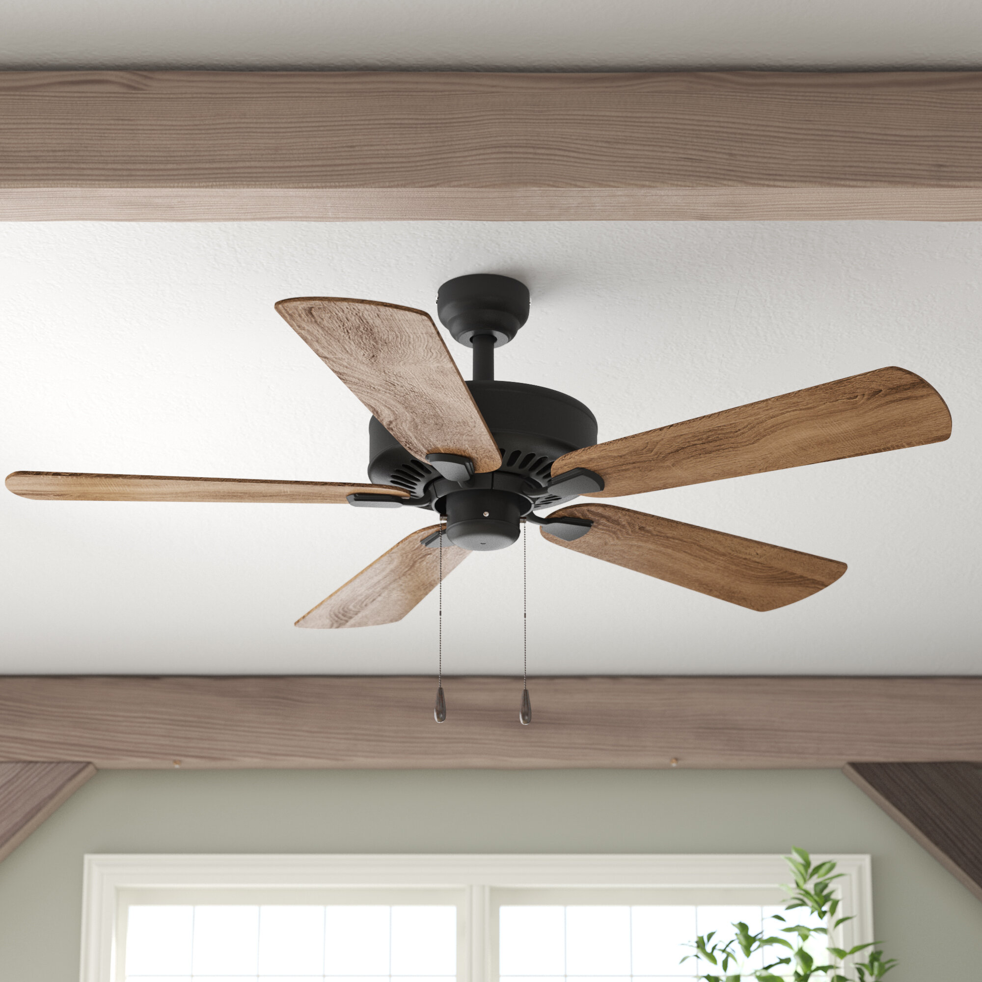 Flush Mount Hugger Low Profile Ceiling Fans You Ll Love In 2021 Wayfair