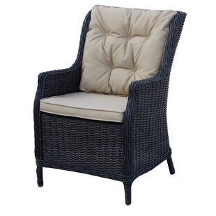 Audra Patio Dining Chair with Cushion (Set of 4)