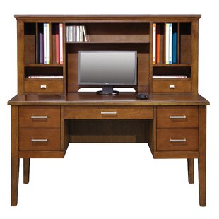 Eaton Solid Wood Computer Desk with Hutch