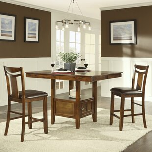 Dahlonega 3 Piece Counter Height Extendable Dining Set Charlton Home