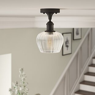 Dooling 1-Light Semi Flush Mount by Gracie Oaks