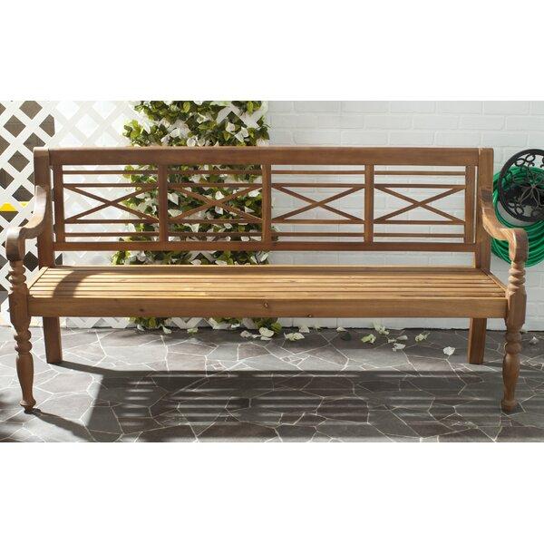 Putnam Acacia Wood Garden Bench Reviews Birch Lane