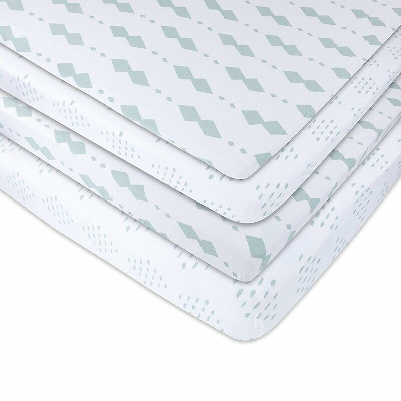 Pack N Play Sheet Fitted Playard Mattress Set 2 100/% Muslin Jerse Baby Product