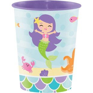 Mermaid Friends Keepsake Plastic Disposable Cup (Set of 8)