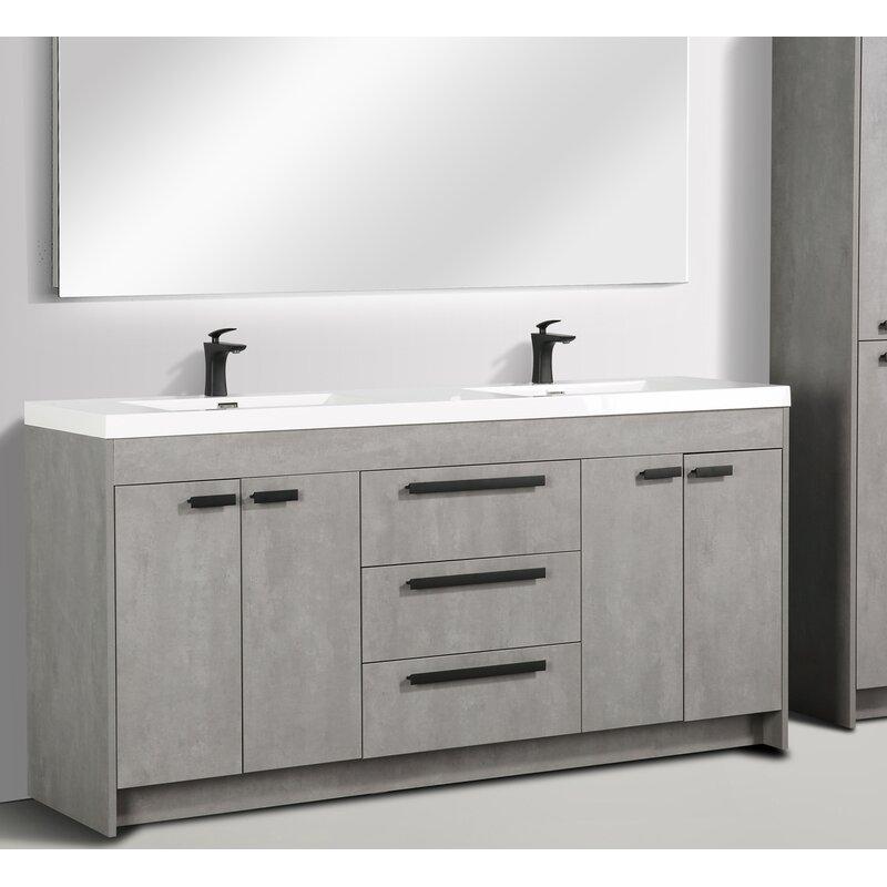 Eviva Zuzanna Modern 72 Quot Double Bathroom Vanity Set Perigold