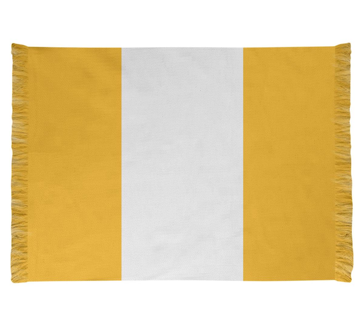 East Urban Home Pittsburgh Football Yellow Area Rug