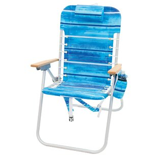 4-Position Hi-Boy Backpack Folding Beach Chair by Rio Brands