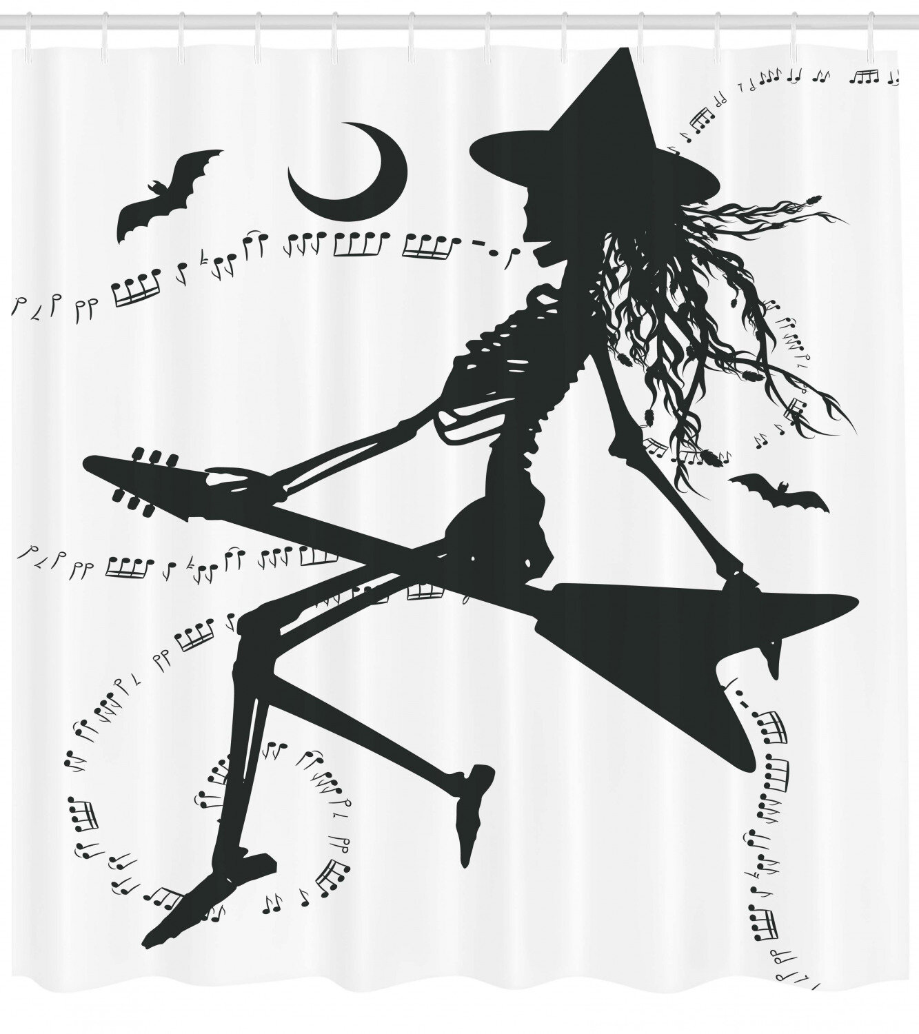 Witch Bat Waterproof Bathroom Polyester Shower Curtain Liner Water Resistant