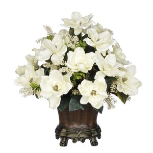 Magnolia Centerpiece in Decorative Vase