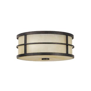 Compare prices Oppenheimer 2-Light Outdoor Flush Mount By Brayden Studio