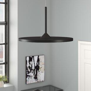Black pendant lights youll love wayfair resa led geometric pendant aloadofball Gallery