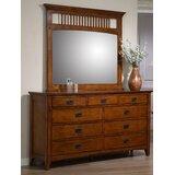 Elgin 9 Drawer Dresser with Mirror by Loon Peak®