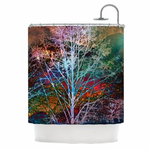 Trees in the Night Single Shower Curtain