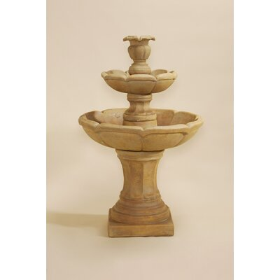 Velia Concrete 2 Tier Fountain Giannini Garden Ornaments