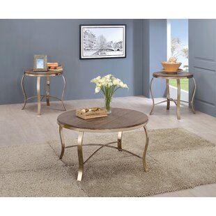 Kallie 3 Piece Coffee Table Set Willa Arlo Interiors