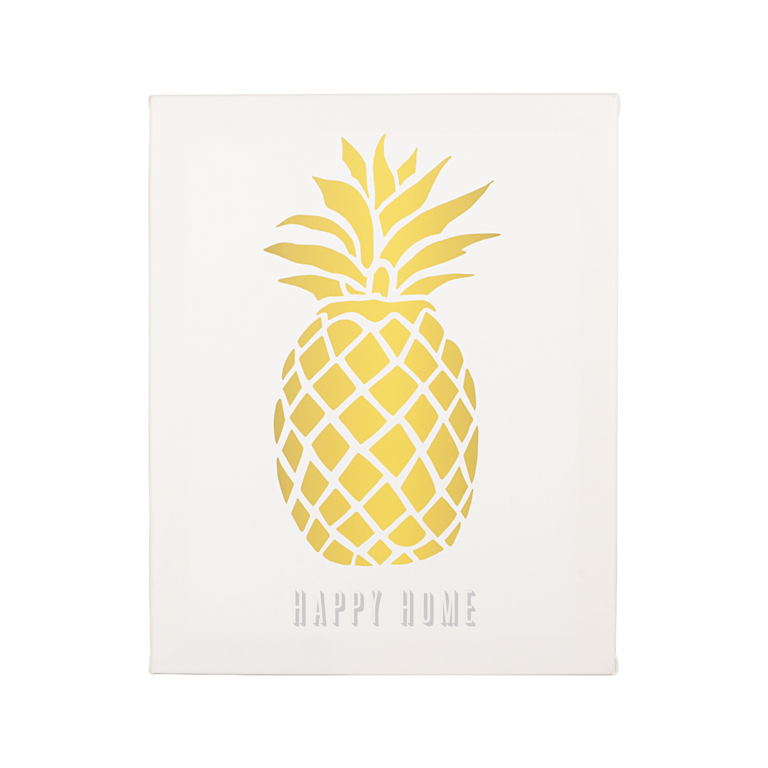 Cathys Concepts Personalized Pineapple Graphic Art on Wrapped Canvas ...