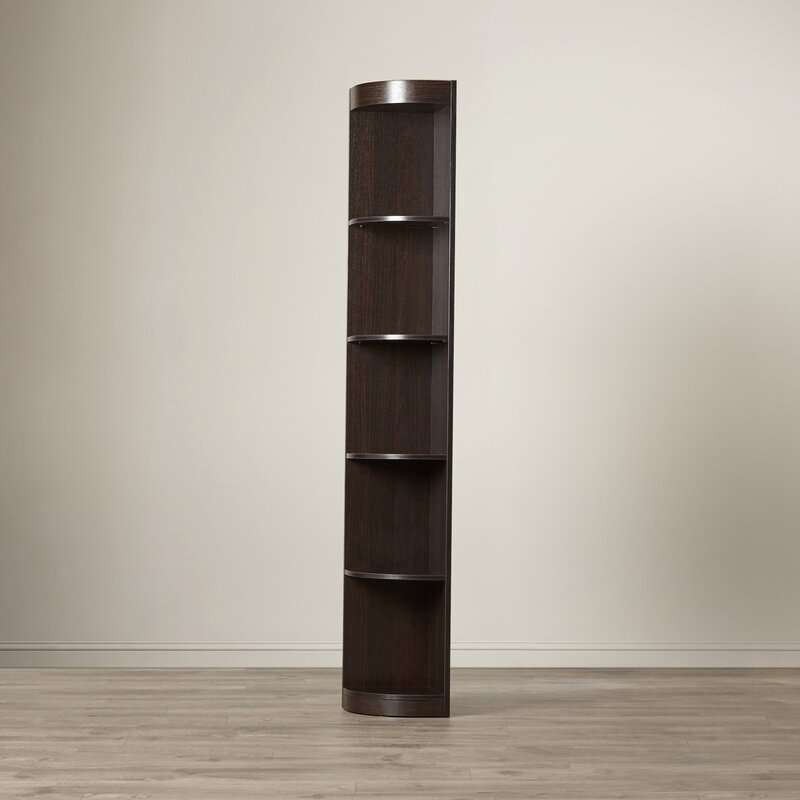 red barrel studio fuhrmann corner unit bookcase reviews wayfair