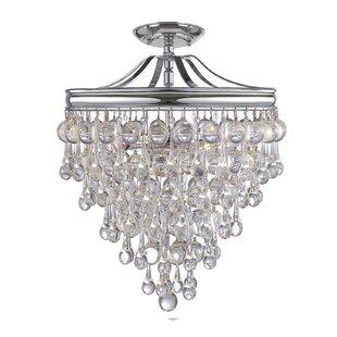 Willa Arlo Interiors Devanna 3-Light Indoor Semi Flush Mount