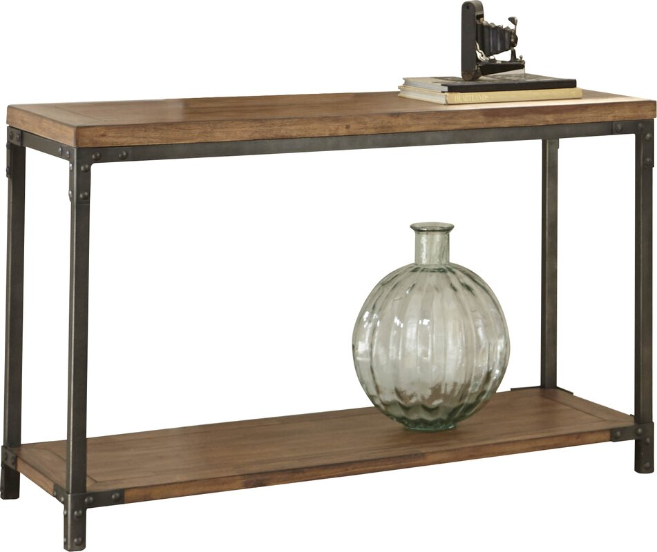 Wood Console Table - Get the Look! Modern Rustic Interior Design in a Masculine Ski Chalet